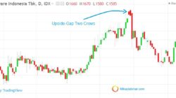 Upside Gap Two Crows candlestick pattern