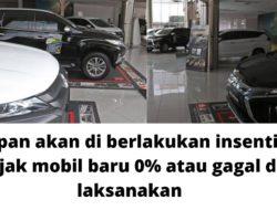 Kapankah Insentif Pajak Kendaraan 0% Diberlakukan