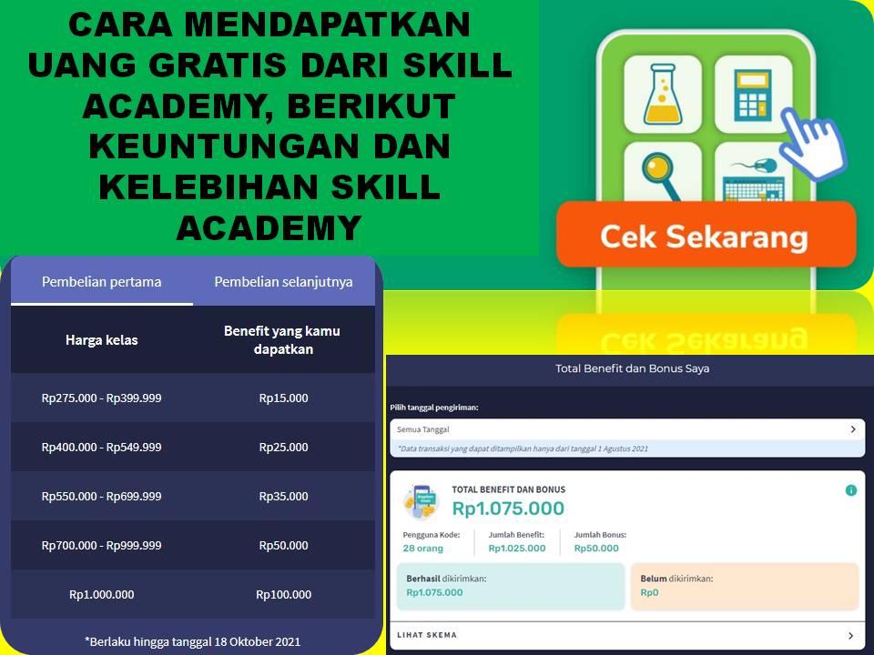 Cara Mendapatkan Uang Gratis Dari Skill Academy, Berikut Keuntungan dan Kelebihan Skill Academy-8b6de383