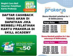 Daftar Cashback Prakerja Skill Academy Yang Akan Di Dapatkan Jika Membeli Pelatihan Kartu Prakerja Di Skill Academy