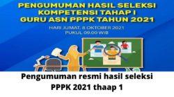 Cara Cek Pengumuman Hasil Seleksi PPPK Guru 2021 KEMENDIKBUD yang resmi di Umumkan Untuk Tahap 1